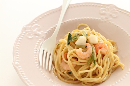 homemade seafood spaghetti