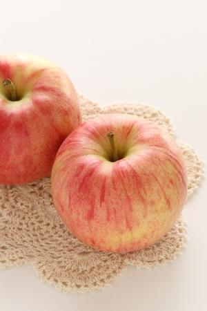 Japanese winter fruit, Fuji apple Stock Photo