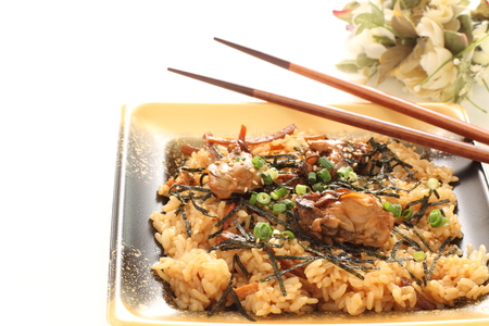 Take out food, Japanese oyster rice