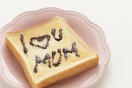 I love you mum chocolate and toast