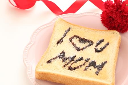 I love you mum chocolate and toast