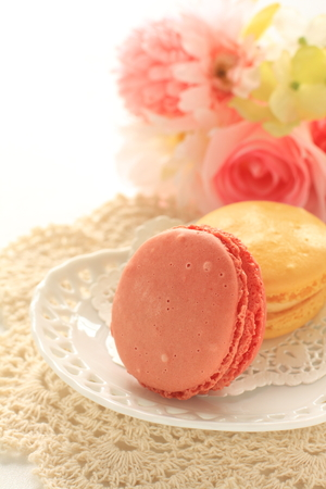 Pastel color confection, french food Macaron