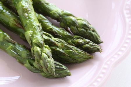 Sauteed Japanese freshness green asparagus Stock fotó