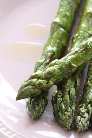 Sauteed Japanese freshness green asparagus 版權商用圖片