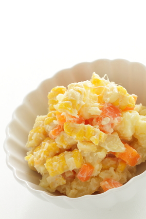 Sweet corn and carrot in Potato salad