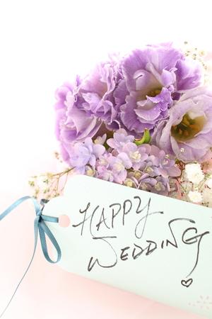 Hydrangea flower and hand written wedding