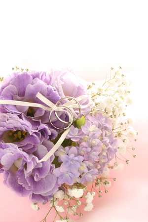 Hydrangea flower and wedding ring for June bride image