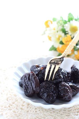Dried fruit, plum for healthy dessert image Stockfoto