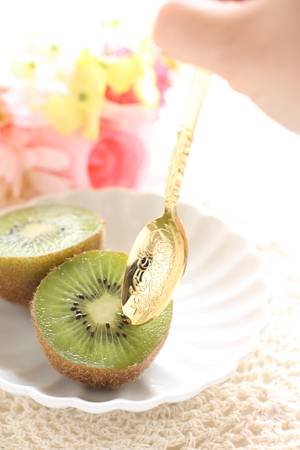 Freshness kiwi fruit in half