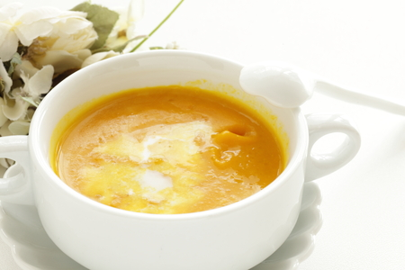 sour cream and pumpkin soup