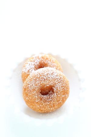 Homemade mini size sugar doughnut Stock Photo