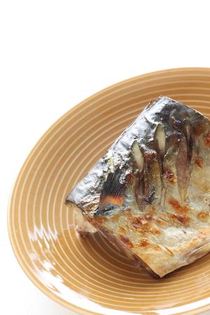 Grilled Japanese mackerel 版權商用圖片