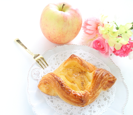 Home bakery, apple pie on dish