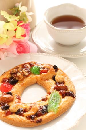 christmas cookie and tea