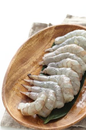 prepared prawn close up on plate