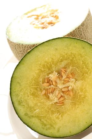 ripe melon in half size