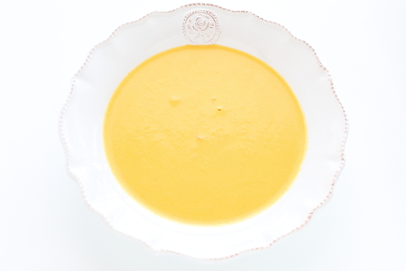 Homemade pumpkin soup
