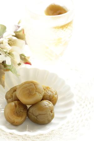 Japanese food, pickled plum wine