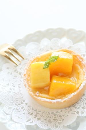 Mango tart  on dish