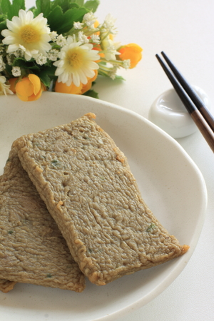 Oily fish cake for asian food image
