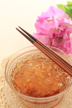 Japanese summer cuisine, Tokoroten Jelly noodles