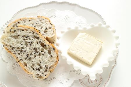 cream cheese and black sesame bread