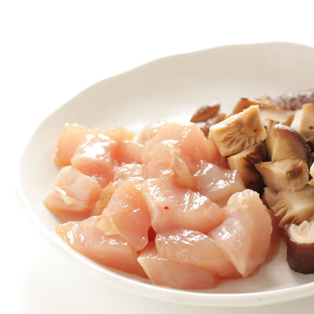 Chopped chicken breast and Shiitake mushroom