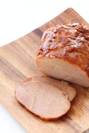 Chinese food, roasted pork slice