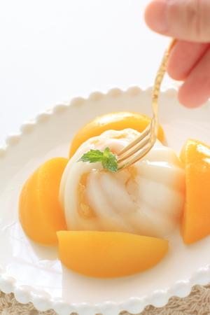 Peach and Almond Tofu Stock fotó