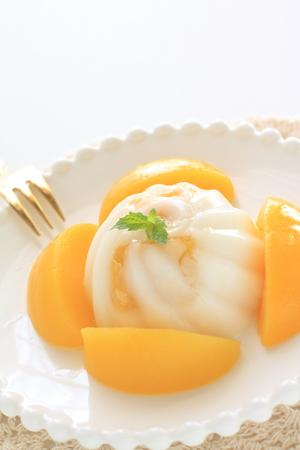 Peach and Almond Tofu Stock Photo