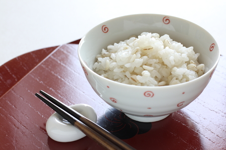 Press barley and rice for healthy food image