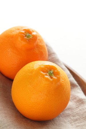 Japanese orange for healthy food ingredient image