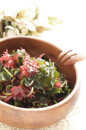 Japanese food, seaweed and agar agar salad Stock Photo