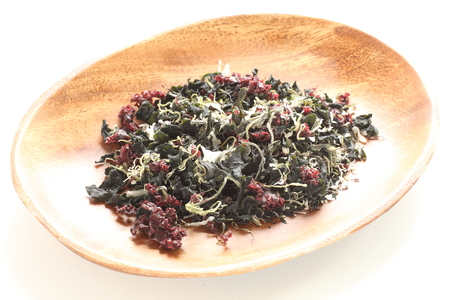 dried seaweed and agar agar for healthy food ingredient image