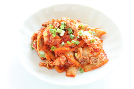 Korean food, kimchi and pork stir fried