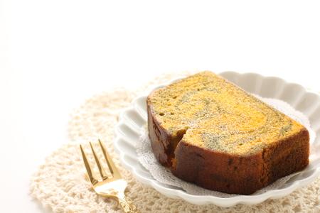 Autumn food, pumpkin cake 스톡 콘텐츠