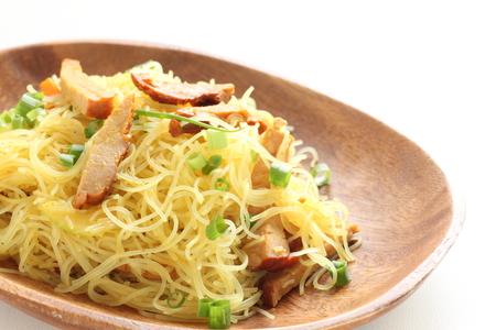 Asian food, Singapore fried noodles