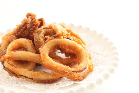 deep fried squid ring Reklamní fotografie
