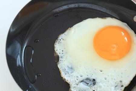 Sunny side up fried egg Фото со стока