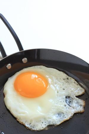 Sunny side up fried egg Stock Photo