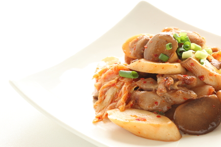 Oyster mushroom and pork stir fried