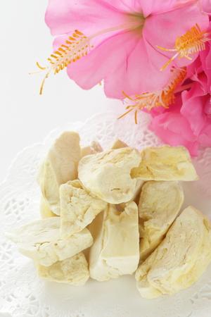 Thai food, dried Durian