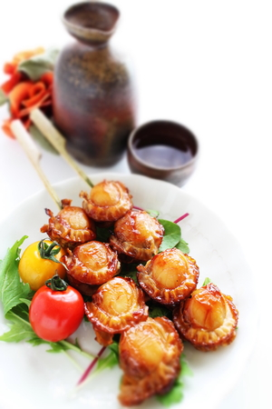Japanese grilled scallop