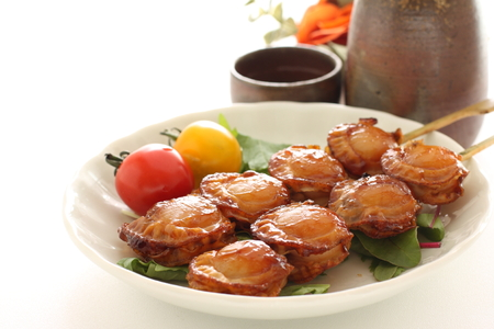 Japanese grilled scallop 写真素材 - 112066403