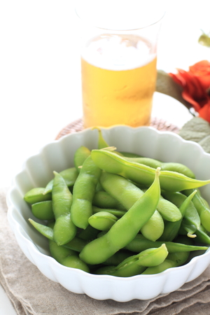 boiled soy bean for Japanese food image