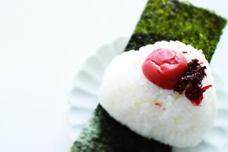Salted plum rice ball