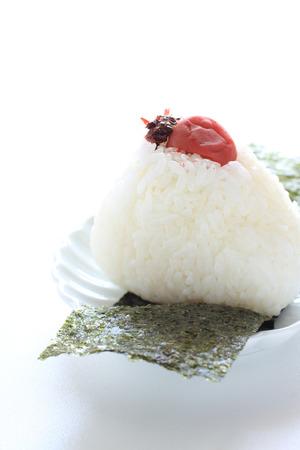 Plum rice ball