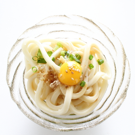 Japanese food, cold udon noodles for summer food image
