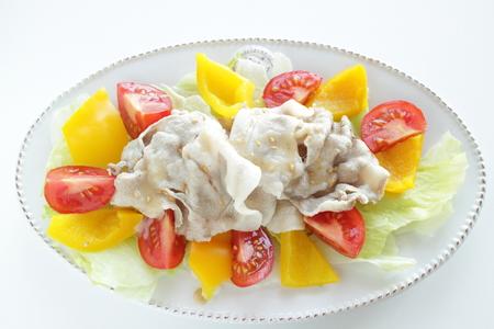 Japanese summer cuisine, boiled pork salad