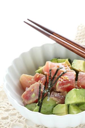 Huisgemaakte tonijn- en avocadosalade